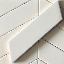 CHEVRON WALL WHITE LEFT